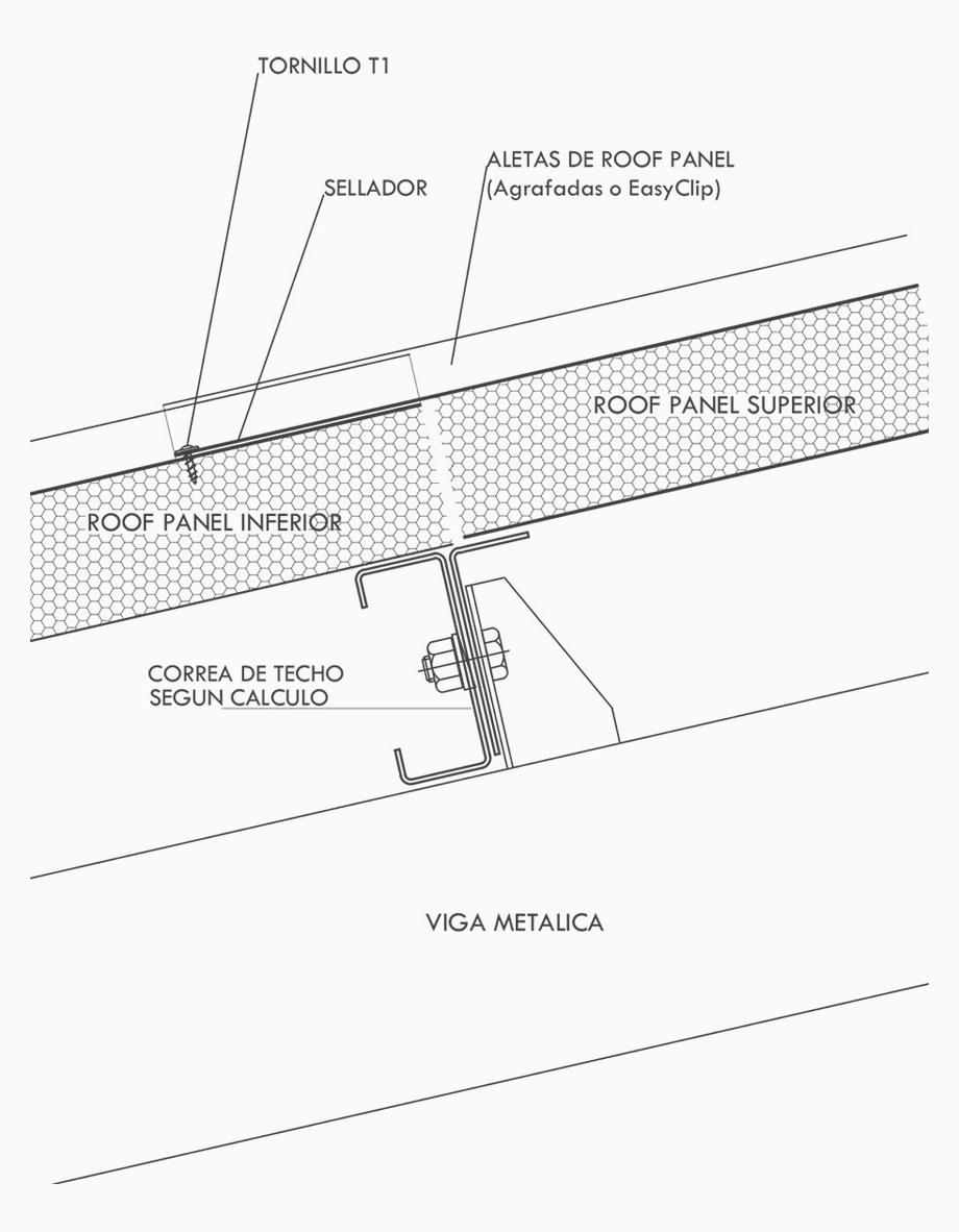 Solapado de Paneles Roof